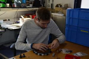 Dominik at work